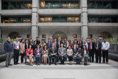 Group photo from the First Regional Training Session held at ADB HQ in Manila, Philippines