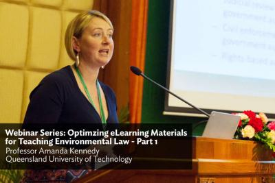 Webinar Series: Optimizing eLearning Materials for Teaching Environmental Law - Part 1