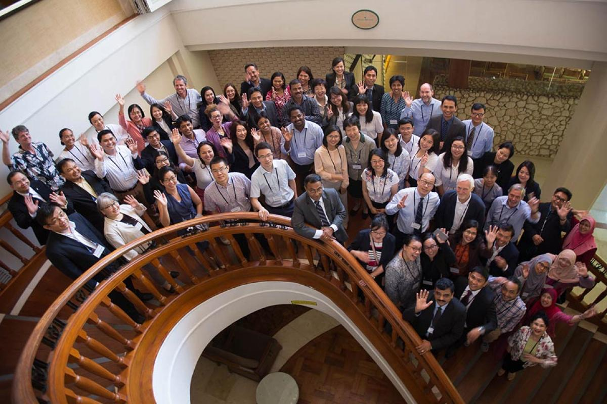 Group photo of all trainers, guests and participants from the Second Regional Roundtable in Cebu, Philippines